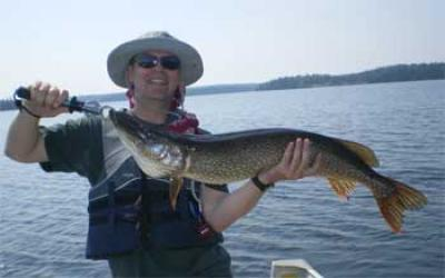 pike fishing brothers at canada lodge