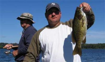 fishing lodge for smallmouth bass Ontario