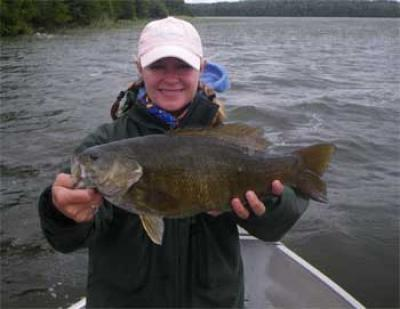 catching trophy smallmouth bass in Canada