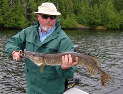 northern pike spring fishing in Ontario Canada