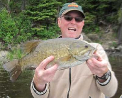 spawning smallmouth trophy bass in Canada