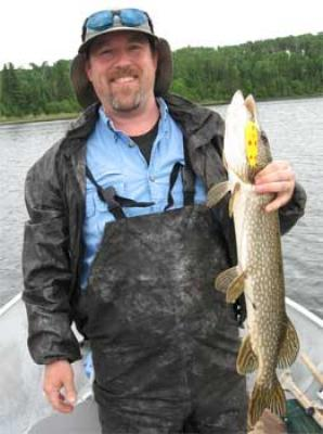 five of diamonds fishing for northern pike in Canada