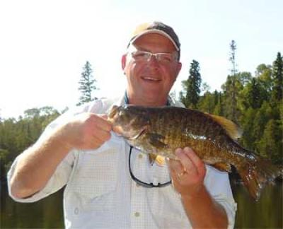 big and bigger smallmouth bass trophies in Canada