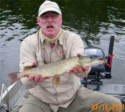 fly fishing for northern pike is great in Canada