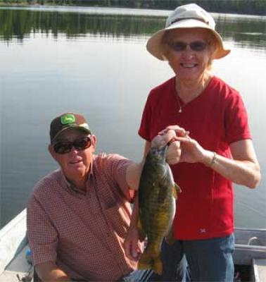 ladies fishing for smallmouth bass trophies in Canada