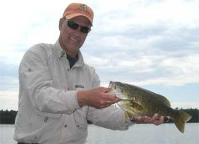 trophy smallmouth bass catch in Canada