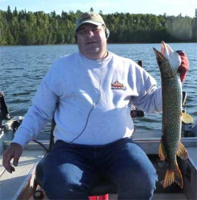 surface fishing for northern pike in Canada
