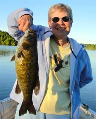 ladies trophy lakes for fishing smallmouth bass in Canada