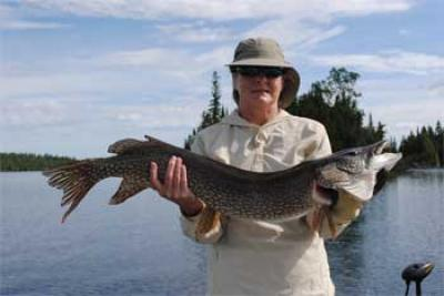 Super Large Northern Pike Lodge in Canada