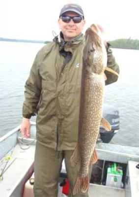 Huge Early Spring Northern Pike fishing in Canada