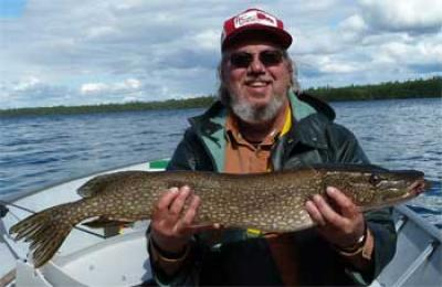 Fun Northern Pike fishing in Canada