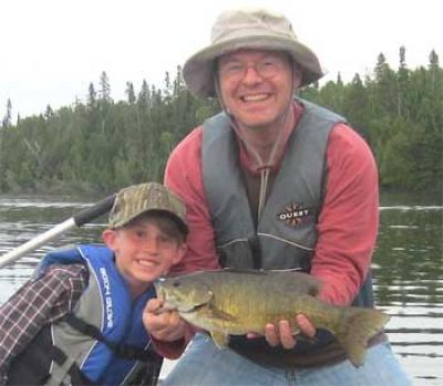 Uncle & Nephew Fishing Smallmouth Bass in Canada