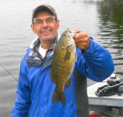 Normal Smallmouth Bass Fishing at Fireside Lodge Canada