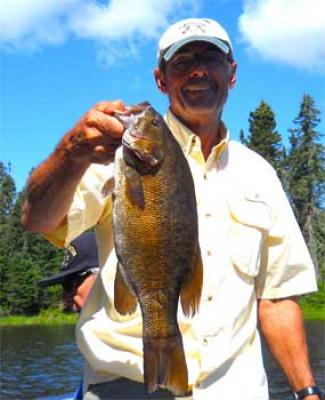 Trophy 19-inch Smallmouth Bass Fishing Fireside Lodge Canada