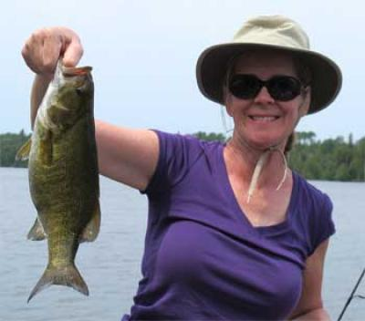 BIG Smallmouth Bass Fishing Lodge for Ladies in Ontario Canada