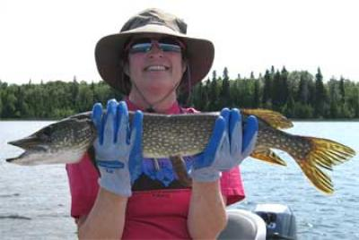 Ladies First Northern Pike Fishing in Canada