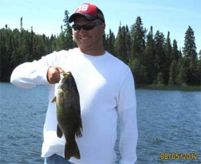 Monster 20-inch Trophy Smallmouth Bass Fishing in Canada Lodge