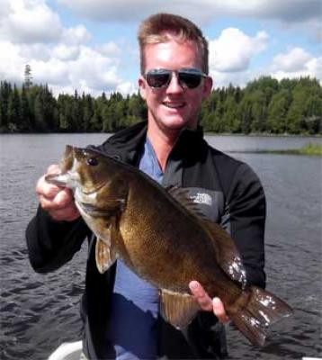 Monsterous Trophy Smallmouth Bass Fishing at Fireside Lodge Canada