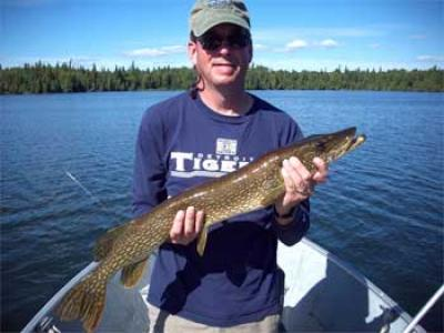 BIG Northern Pike Fishing is exciting at Fireside Lodge Canada