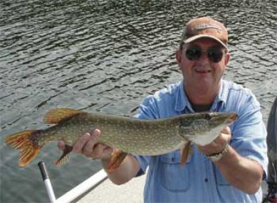 Northern Pike Fishing at Fireside Lodge in Canada