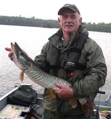 First Musky caught Fishing at Fireside Lodge Canada