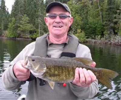 First time Smallmouth Bass Fishing at Fireside Lodge Canada