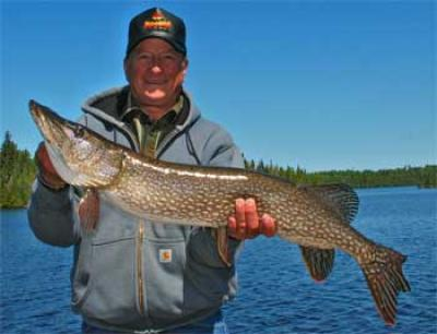 Giant Northern Pike Fishing Fireside Lodge Canada