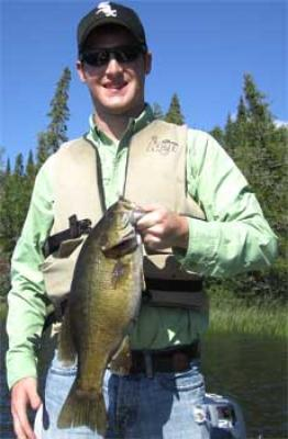 Big Smallmouth Bass Fishing is Best at Fireside Lodge Canada