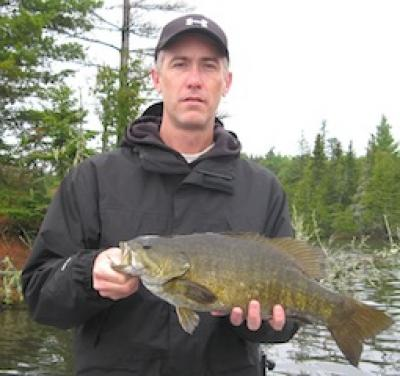 Trophy 22-inch Smallmouth Bass Fishing Fireside Lodge Canada