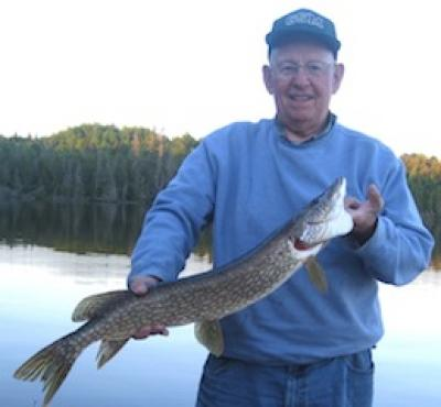 Father and son Northern Pike Fishing at Fireside Lodge Canada