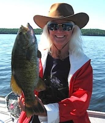 Ladies Fly-Fishing for Trophy Smallmouth Bass at Lodges Canada