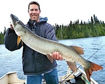 Trophy Muskie Fishing Fireside Lodge Canada by Scott Kimball