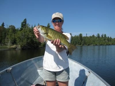Terrific Trophy Smallmouth Bass Fishing at Fireside Lodge Canada