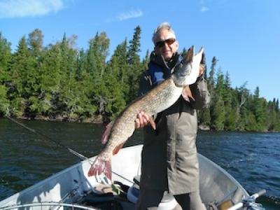 Huge Trophy Northern Pike Fishing at Fireside Lodge Canada by Bryan Neel