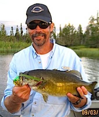 Many Trophy Smallmouth Bass Fishing at Fireside Lodge Canada Bill Calhoon