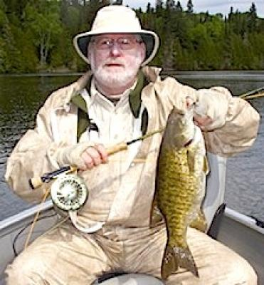 Another Trophy Smallmouth Bass Fly Fishing at Fireside Lodge in Canada