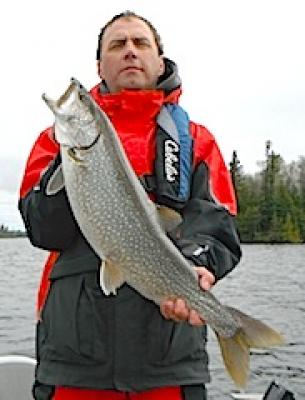 Another Big Lake Trout Fishing at Fireside Lodge in Canada
