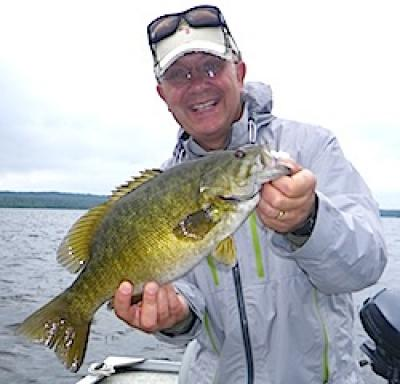Great Smile Trophy Smallmouth Bass Fishing at Fireside Lodge