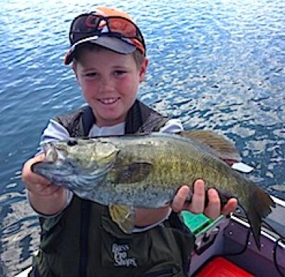 Kids Catching HUGE Smallmouth Bass at Fireside Lodge in Canada