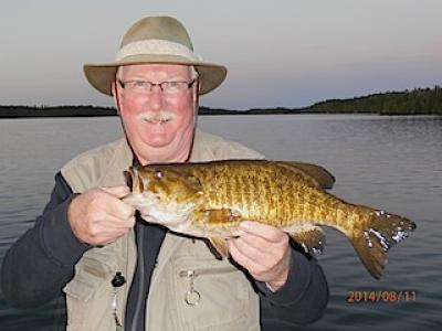 BIG Smallmouth Bass Smile Fishing at Fireside Lodge in Canada
