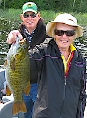 Couples Trophy Smallmouth Bass Fishing in Canada