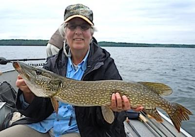 Northern Pike Fly Fishing is Super at Fireside Lodge in Canada