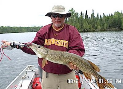 BIG Heavy Northern Pike Fishing at Fireside Lodge in Canada