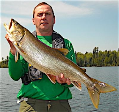 Huge Lake Trout Fishing at Fireside Lodge in Canada