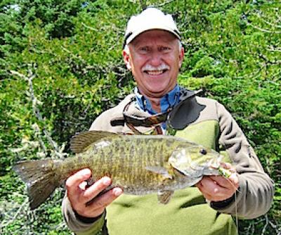 Super Fly Fishing Smallmouth Bass at Fireside Lodge in Canada