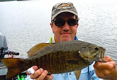 Trophy Smallmouth Bass Fly Fishing by Tim at Fireside Lodge in Canada