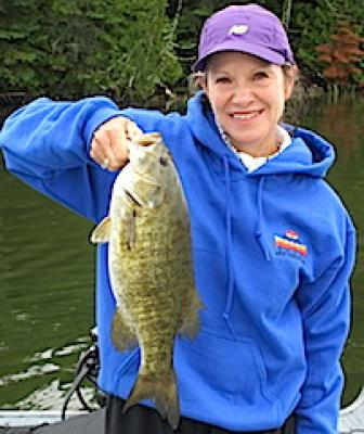 Monster Smallmouth Bass Fishing by Linda at Fireside Lodge in Canada