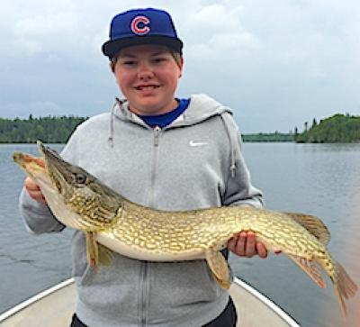 Big Northern Pike Fishing with Grandpa at Fireside Lodge in Canada
