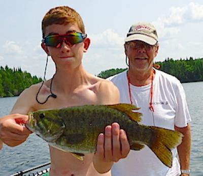 My First BIG Smallmouth Bass Fishing at Fireside Lodge in Canada