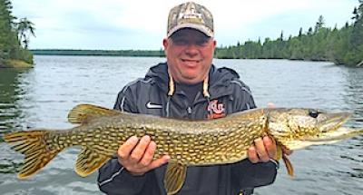 Normal Northern Pike Fishing at Fireside Lodge in Canada